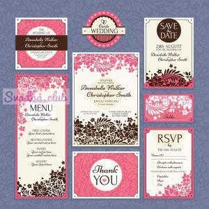 пригласительные на свадьбу шаблон розово сиреневый