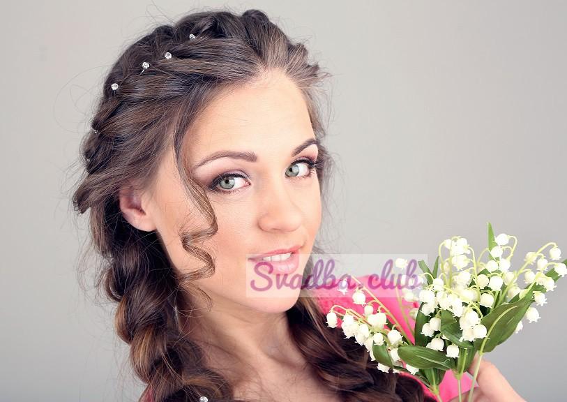 свадебные прически фото на средние волосы