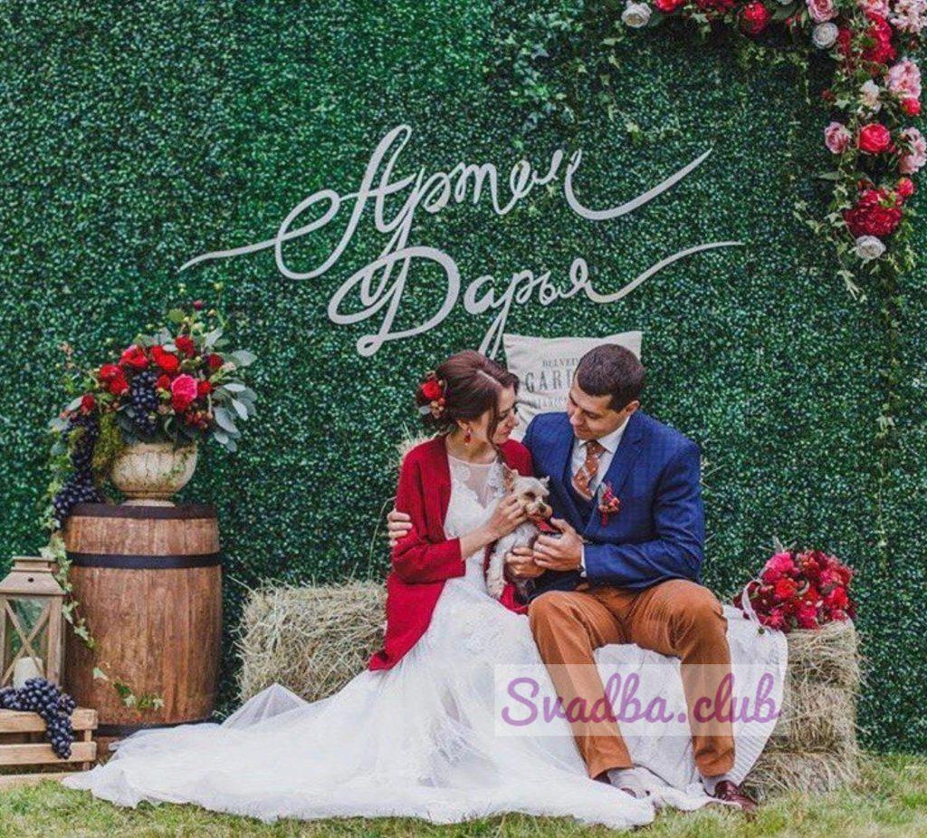 Идеи оформления фотозоны на свадьбу