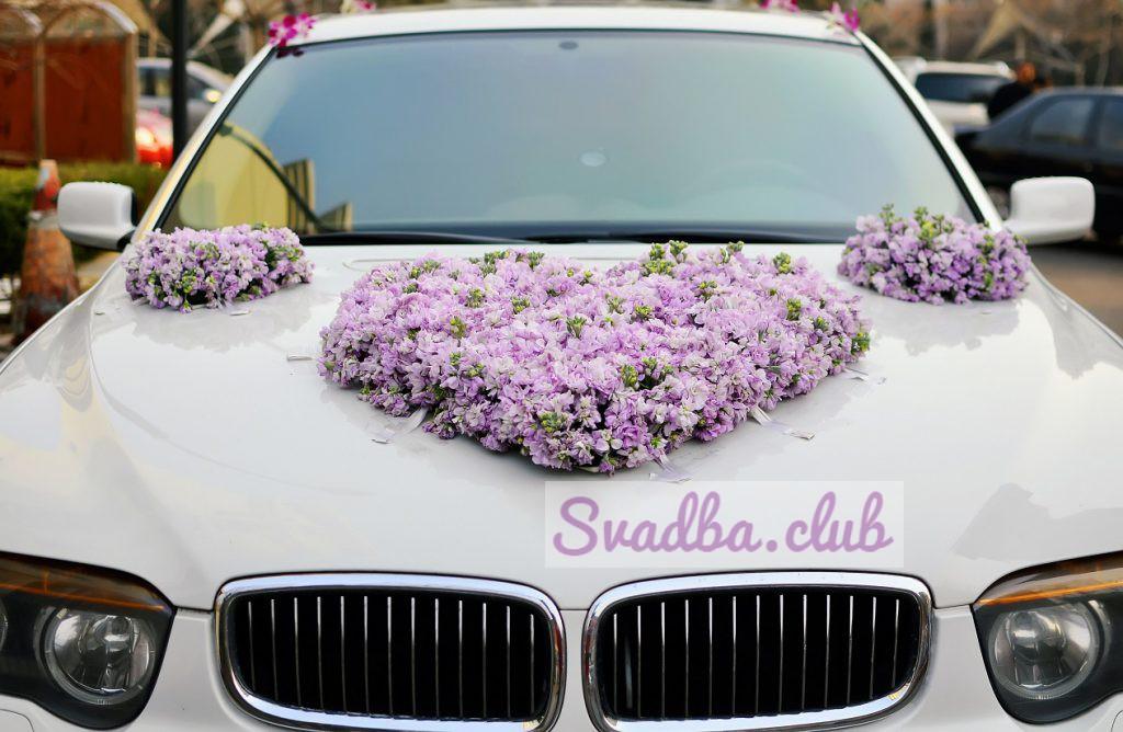 фото капота с цветами свадебной машины
