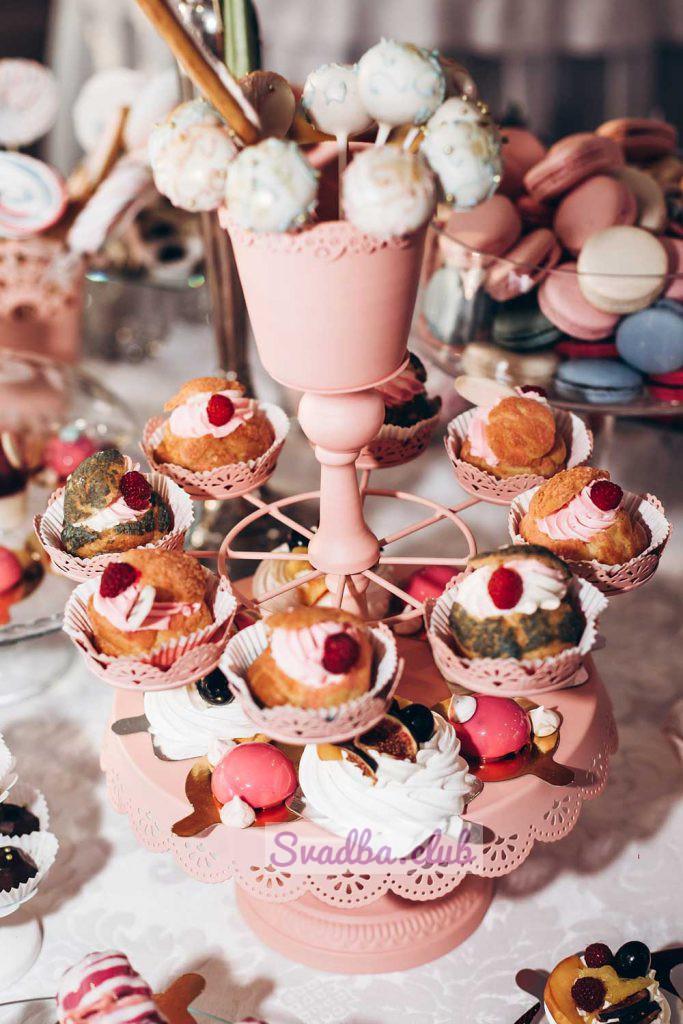 свадебный стол со сладостями